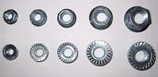500PC COARSE SERRATED FLANGE LOCK NUT ZINC 1/4-20 5/16-18 3/8-16 7/16-14 1/2-13