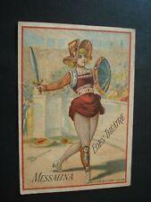TRES RARE PETITE CARTE EDEN THEATRE PARIS SPECTACLE MESSALINA  ENVIRONS 1885