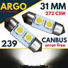 31mm 239 272 Led C5w Festoon Xenon White Light Bulbs Number Plate Canbus Smd 12v