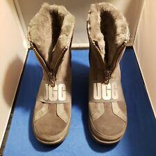 UGG Australia Conness Waterproof 1098373 Charcoal Boots Zip Front Streetwear