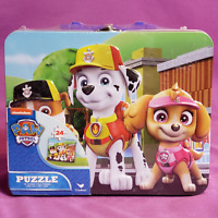 Nickelodeon PAW Patrol 24 Piece Puzzle Toy Game in Metal Lunch Box Tin w/ Handle