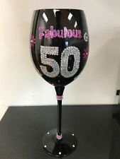 Fabulous 50 Wine Glass - Kitchen Decor - Great 50th Birthday Gift