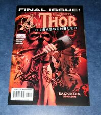 THE MIGHT THOR #87 (587) signed 1st print FINAL ISSUE RAGNAROK M.A. OEMING movie