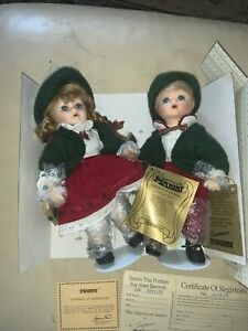 "Christmas Seymour Mann ""Twice as Nice"" (Set of 2) 11"" Dolls - New in Box"