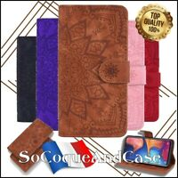 Etui Coque housse FLEURS Cuir PU Leather FLOWER Case Samsung Galaxy Collection