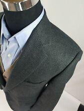 Brooks Brothers Gray & Black Houndstooth Plaid Blazer 40 R Wool Cashmere