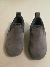 Boys Lands End Brown Suede Loafer Shoes Size Toddler 7 Slip On VGUC