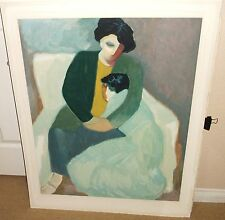 BARBARA A WOOD TWO WOMEN SETTING LIMITED EDITION SIGNED HUGE COLOR LITHOGRAPH