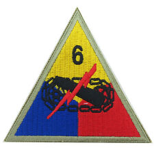 6th Armored Division - Super Sixth WW2 Repro Badge Patch Tank Tanker Sleeve Army