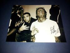 "LIL WAYNE & DRAKE SIGNED AUTOGRAPHED REPRO 10X8"" PHOTO PP RAP HIPHOP OVOXO WEEZY"