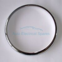 "CHROME 7"" HEADLAMP / HEADLIGHT RIM for JAGUAR E type 1971 onward"
