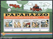 Nederland Postzegelvel 3012 Paparazzo 3 provinciebezoeken koning en koningin