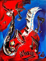 Modern Canvas ORIGINAL PAINTING  - SIGNED WITH COA - CANADIAN GALLERY  5SDFB
