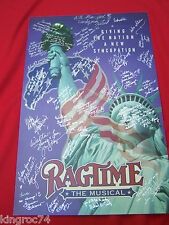 """1998 TOUR """"SIGNED"""" Window Card,""""RAGTIME-THE MUSICAL"""" SIGNED BY CAST & CREW!"""