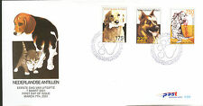 ANTILLEN 2001  FDC 324AB CATS AND DOG CAT 32,00