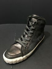 A By ASH Limited Women's Metallic Black Sneakers Size EU 37 RTL $300