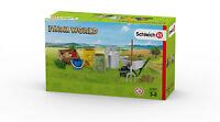 Schleich  Farm World 42301  Fütterung der Bauernhoftiere Futterset  Neu