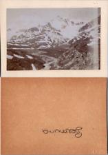 Suisse, Schweiz, Grisons, la Bernina, vue des montagnes, circa 1880 CDV vintage