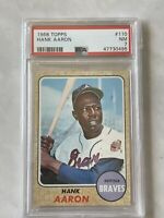 1968 Topps #110 Hank Aaron Atlanta Braves HOF PSA 7 NM