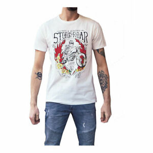 MCS Skull Fashionable Casual Wear T-Shirt Off-White