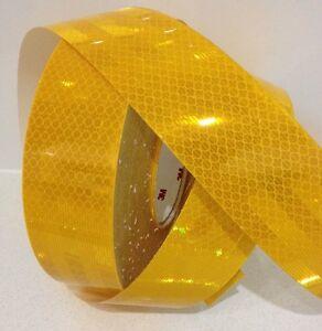 3M™ Yellow Gold High Intensity Class 1 Diamond Reflective Tape 50mm x 5m Roll