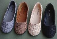 Women Casual Comfort Slip On Round Toe Ballet Flat Ballerina Slipper Shoes 11W