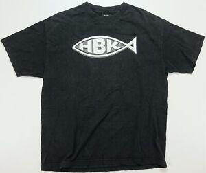 Rare Vintage TRINITY Shawn Michaels HBK Jesus Fish Wrestlemania 2004 T Shirt XL