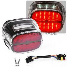 Motorcycle LED Brake Taillight w/License Plate Lamp For Harley Dyna Road King CT