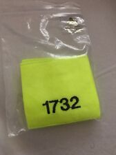 Obsolete Ex Police Film Prop Hi Viz Yellow Sliders For Epaulettes. Fancy Dress.