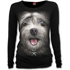 Spiral Direct MISTY EYES Long Sleeve/Cut/Dog/Funny/Alternative/T shirt/Top/Tee