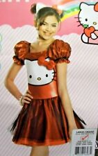 Hello Kitty Red Glitter Costume Girls L 12-14 Dress Up