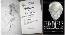 Autographe Jean Marais dédicace  livre Histoires de ma vie Rare