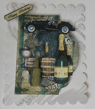 PACK 2 MENS CELEBRATIONS EMBELLISHMENT FOR CARDS AND CRAFTS-HAPPY BIRTHDAY