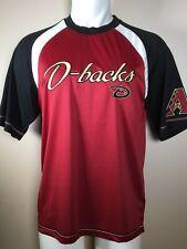 New Arizona Diamondbacks Raglan Red Black Mlb Baseball Jersey Medium Nwt