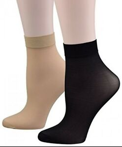 New 10xPAIRS LADIES DENIER ANKLE HIGH TROUSER POP SOCKS UK SIZE 4-7 IN 8 COLOURS