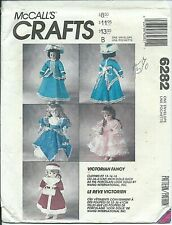"""M 6282 sewing pattern 13""""-16"""" DOLL CLOTHES sew VICTORIAN Gown Skating Suit UNCUT"""