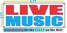 LIVE MUSIC Banner Sign NEW Larger Size Best Quality for the $$$