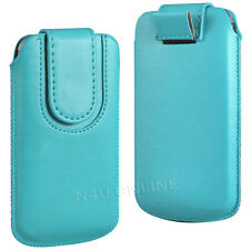 PREMIUM PU LEATHER PULL FLIP TAB CASE COVER POUCH WITH STRAP FOR BLACKBERRY SETS