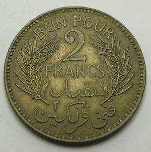 TUNISIA 2 Francs AH1360/1941(a) - Aluminum/Bronze - VF/XF - 1361