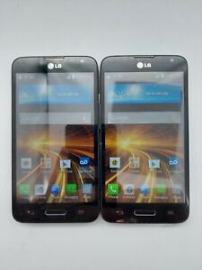 Lot of 2 LG Realm LS620 Boost Mobile 4GB Black *Check IMEI*