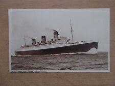 CUNARD WHITE STAR LINE R.M.S. QUEEN MARY POSTCARD  - GROSS TONNAGE 81,237