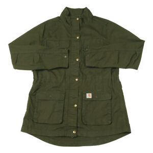 CARHARTT Ripstop Smithville Jacket | Medium | Workwear Parka Coat Zip