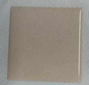 "VINTAGE Beige speckled NIB PLASTIC TILE 4 1/4"" wall bathroom kitchen"