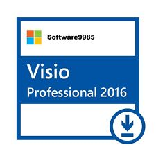 Visio Professional 2016 Pro 32 / 64 bit Product License Key Scrap PC