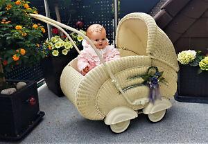 Sehr schöner alter Korb Puppenwagen 50er J. kombinierbar, Kinderwagen