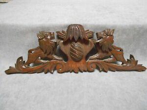 FRENCH Antique wood PEDIMENT FRONTON GRIFFINS