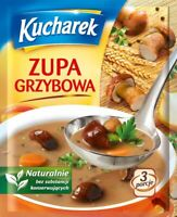 Kucharek Zupa Grzybowa Mushroom Soup 42g Bag (5-Pack) Free Shipping USA Seller!