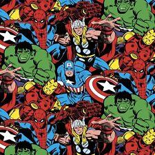 Marvel Avengers Hulk Spiderman Cap America Quilt Fabric - Free Shipping - 1 Yard