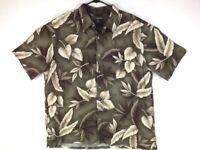 Croft & Barrow, Men's Hawaiin Short Sleeve Shirt, Size: XL, Color: Olive Green