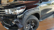 Off-Road Matte Blk Fender Flears Arch Wheel Nuts Toyota Hilux 4dr Revo Sr5 2015